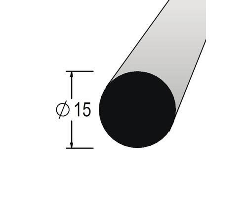 Lišta kruhová masivní 15 x 900 mm dub
