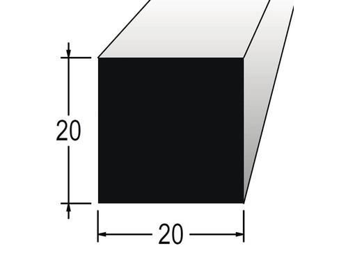 Hranolek čtvercový 20 x 20 x 900 mm dub