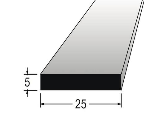 Hranolek obdélníkový 5 x 25 x 900 mm dub