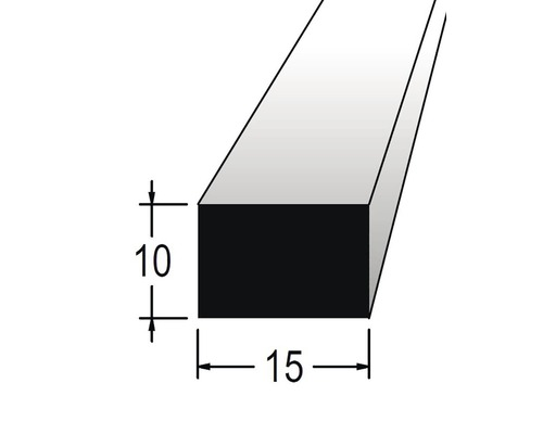 Hranolek obdélníkový 10 x 15 x 900 mm dub