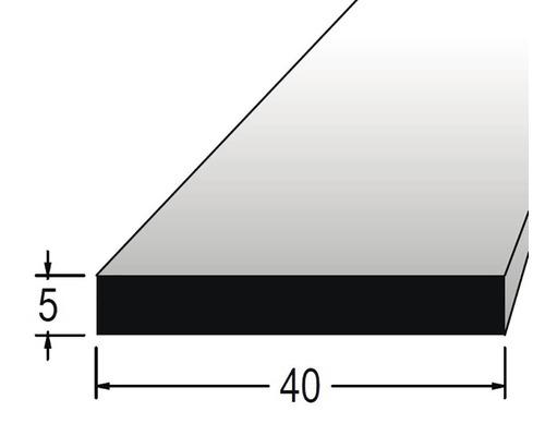 Hranolek obdélníkový 5 x 40 x 900 mm dub