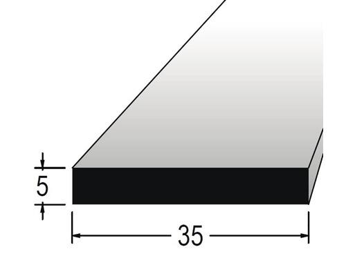 Hranolek obdélníkový 5 x 35 x 900 mm dub