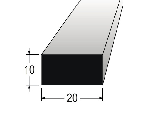 Hranolek obdélníkový 10 x 20 x 900 mm dub