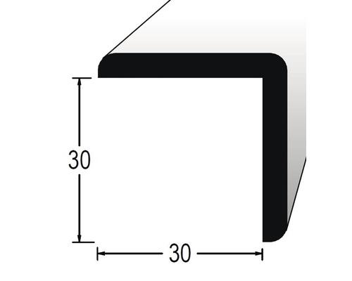 Rohová lišta ochranná 30 x 30 x 1200 mm fólie bílá