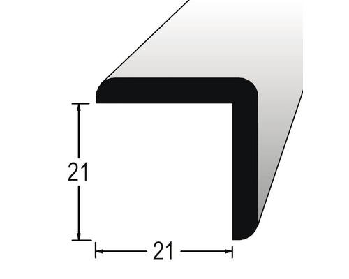 Rohová lišta vnejší nastavovaná 21 x 21 x 2400 mm dub