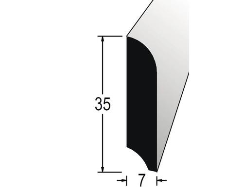 Podlahová lišta 7 x 35 x 2400 mm dýha dub