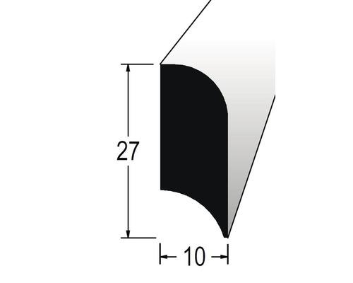Podlahová lišta nastavovaná 10 x 27 x 2400 mm dub