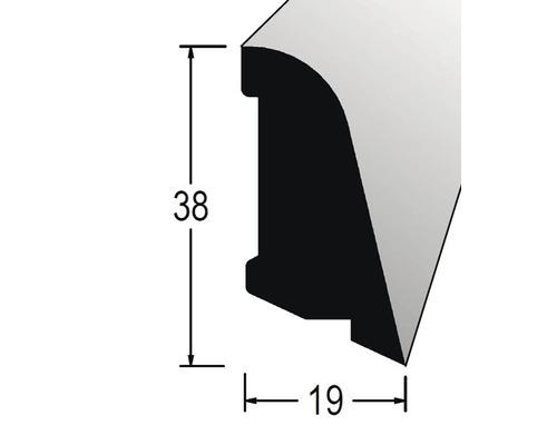 Podlahová lišta 19 x 38 x 2400 mm dýha dub