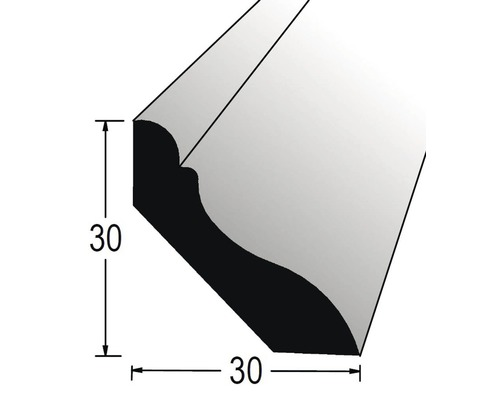 Podlahová lišta nastavovaná 30 x 30 x 2400 mm dub