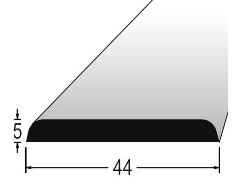 Krycí lišta nastavovaná 5 x 44 x 2400 mm dub