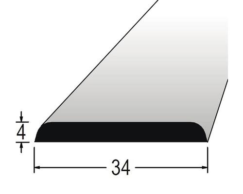 Krycí lišta nastavovaná 4 x 34 x 2400 mm dub