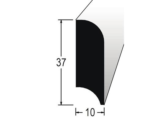 Podlahová lišta nastavovaná 10 x 37 x 2400 mm dub