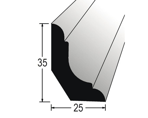 Podlahová lišta nastavovaná 25 x 35 x 2400 mm borovice/smrk
