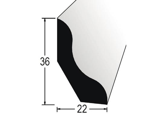 Podlahová lišta nastavovaná 22 x 36 x 2400 mm borovice/smrk