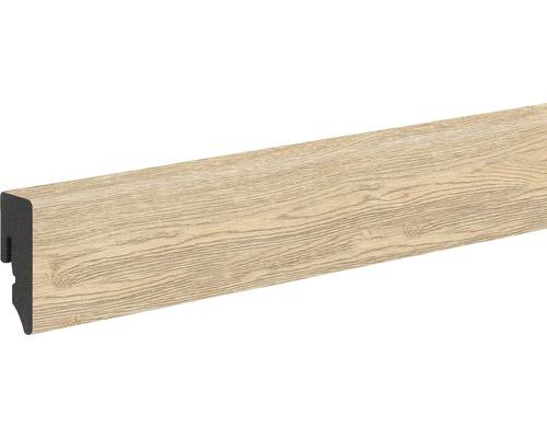 Soklová lišta Skandor PVC dub s trhlinami přírodní KU048L 15 x 38,5 x 2 400 mm