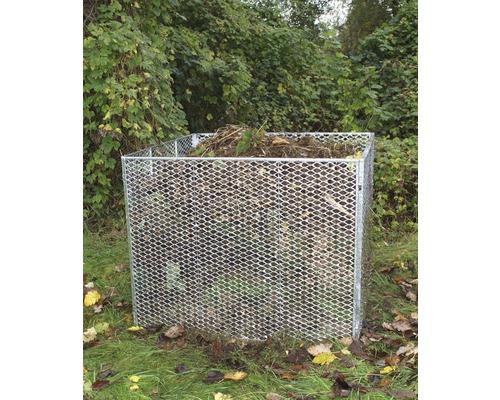 Kompostér ocelový 100 x 100 x 80 cm pozink