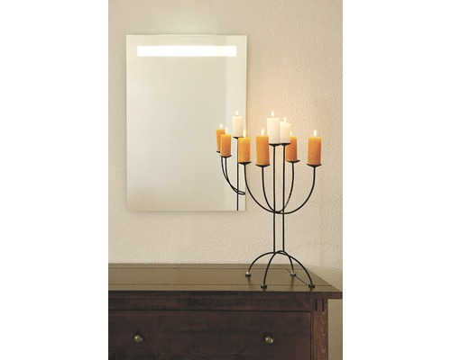 Zrcadlo do koupelny Luna LED 80x60 cm