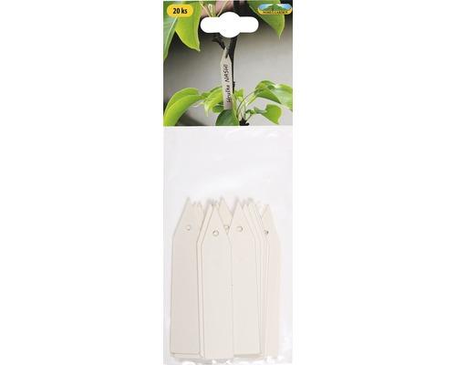 Jmenovky na rostliny visačky 20 ks béžové