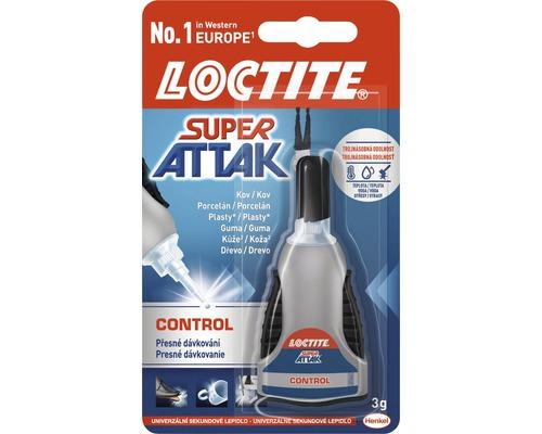 Lepidlo vteřinové LOCTITE Super Attak Control 3g