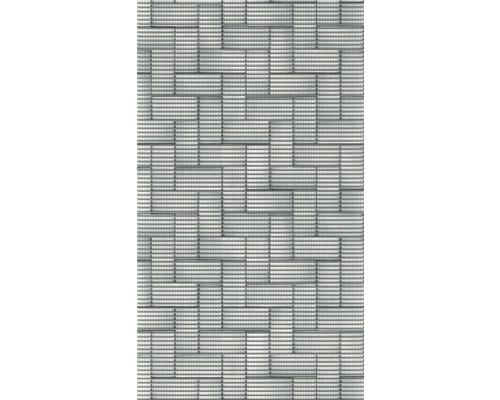Podlahová krytina pěnová, stříbrné dlaždice, 65x180cm