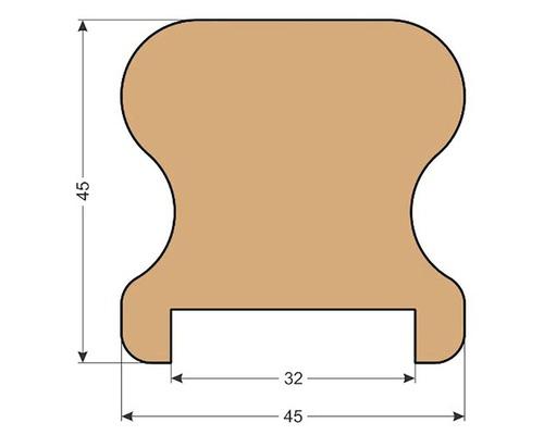 Smrkové madlo zábradlí K3 45 x 45 x 2500 mm