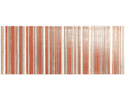Dekor Ruby Lines Červený 20x50 cm