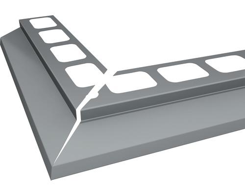Balkonový profil PRECIT rohový 1000 x 1000 mm hliník šedý