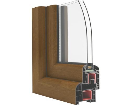 Plastové okno Avantgarde 7000 OS1 90 x 120 cm 6 komor pravé dub zlatý/bílá