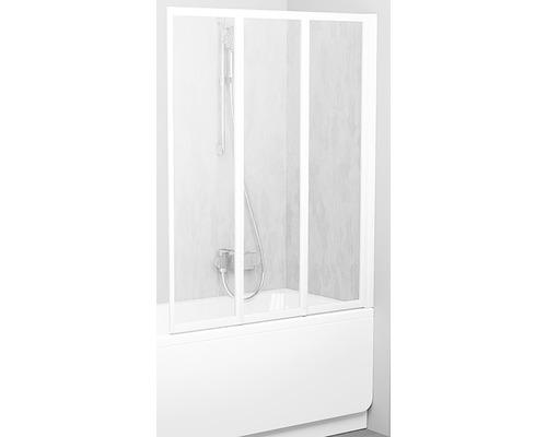 Vanová zástěna RAVAK VS3 130 White+Rain 795V010041