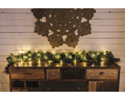 Světelný řetěz Konstsmide 100 LED kapky, jantarové světlo