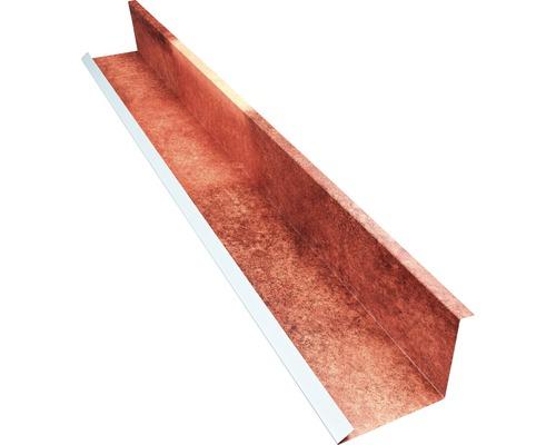 Lemování zdi PRECIT Spanish Andalusia pro plechovou krytinu 1000 mm hnědočervená