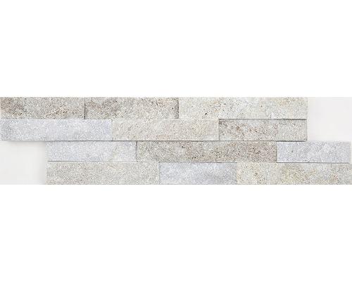Přírodní obkladový kámen světle hnědý 40x10x1,5 cm