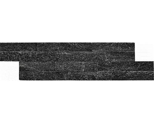 Přírodní obkladový kámen černý 40x10x1,5 cm