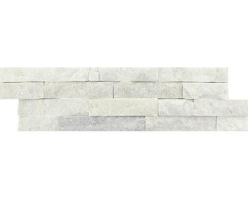 Přírodní obkladový kámen bílý 40x10x1,5 cm