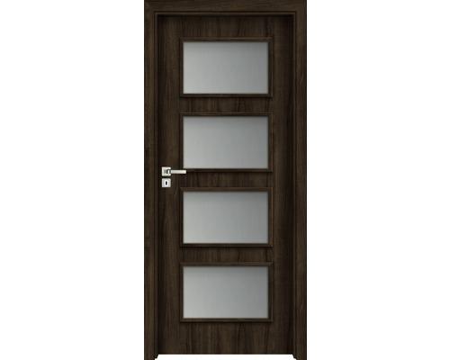 Interiérové dveře Colorado 5 prosklené 60 L ořech evropský (VÝROBA NA OBJEDNÁVKU)