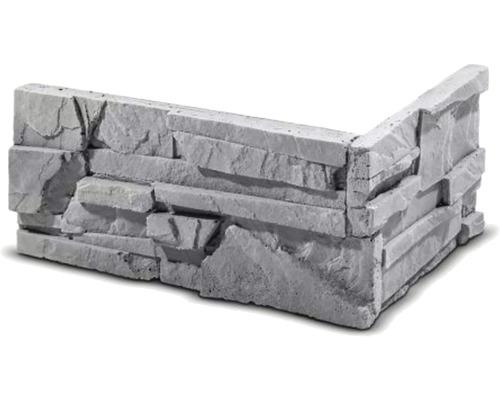 Obkladový kámen rohový Sorrento šedý 32x15,5x14,7x3,5 cm