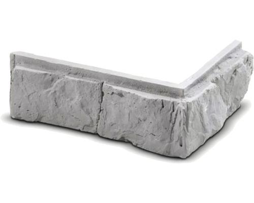 Obkladová cihla rohová Altar šedá 25,5x12x7x2,5 cm