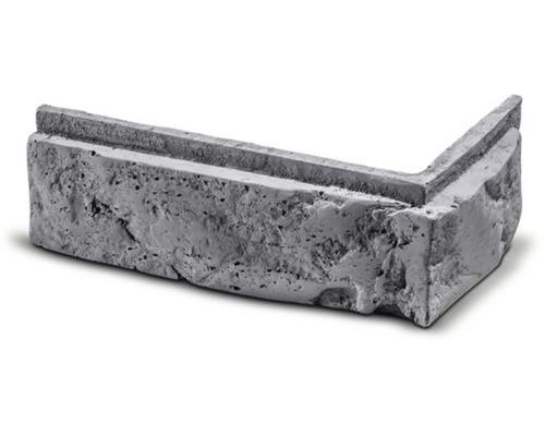 Obkladová cihla rohová Modena šedá 24,4x10,4x7,5x3 cm