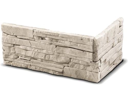 Obkladový kámen rohový Larisa krémový 32x15x14x2,5 cm