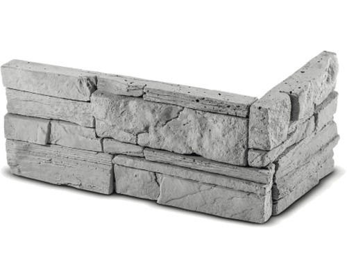 Obkladový kámen rohový Manus šedý 32x15x14,5x3,5 cm