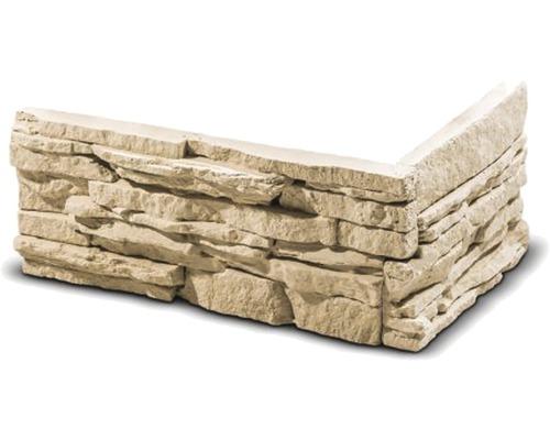 Obkladový kámen rohový Todos krémový 34,5x17,3x14x3 cm