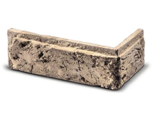Obkladová cihla rohová Tonala krémová 20,3x11x7,3x2 cm