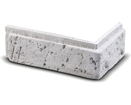 Obkladová cihla rohová Tonala bílá 20,3x11x7,3x2 cm
