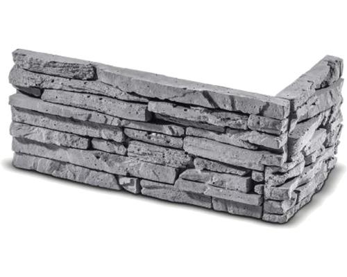 Obkladový kámen rohový Cubana šedý 32x15,5x14,5x3,5 cm