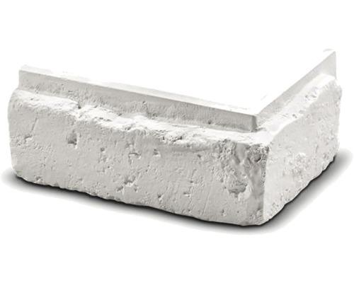 Obkladový kámen rohový Frontera bílý 17x10x7,5x2,5 cm