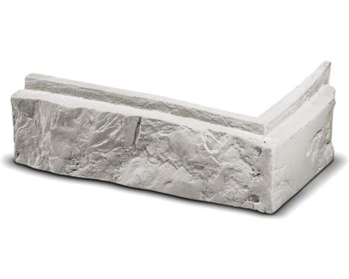 Obkladová cihla rohová Modena bílá 24,4x10,4x7,5x3 cm