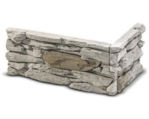 Obkladový kámen rohový Wanesa hnědý 33,5x16,5x14,5x4 cm