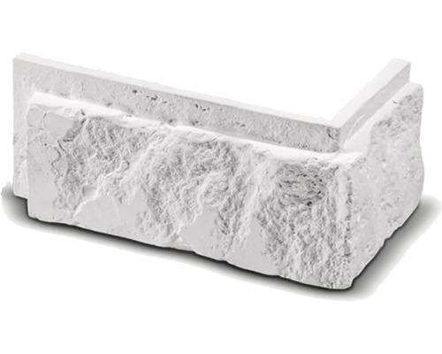 Obkladová cihla rohová Botin bílá 16x8x7,5x2,5 cm