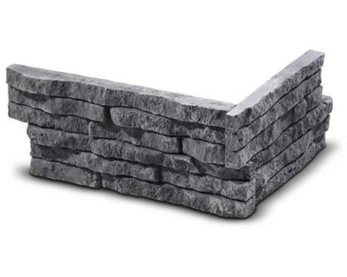 Obkladový kámen rohový Tores šedý 21x12,5x9x2,1 cm