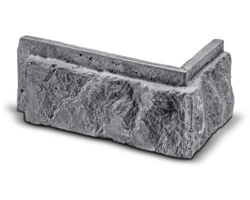 Obkladová cihla rohová Botin šedá 16x8x7,5x2,5 cm